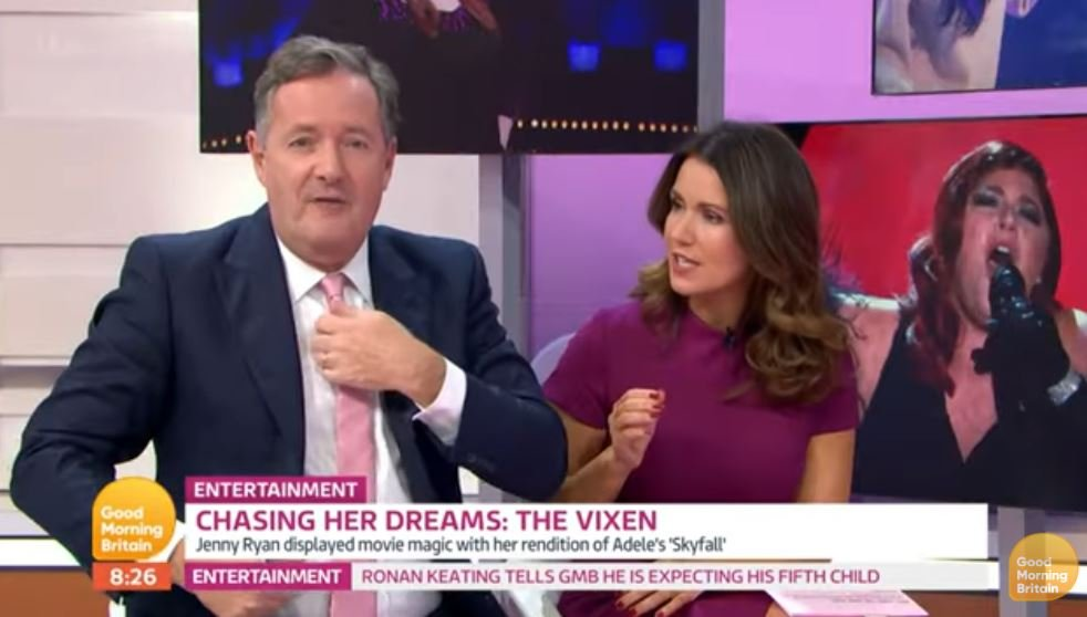 GMB's Piers Morgan told off by Susanna Reid for ruining Jenny Ryan interview