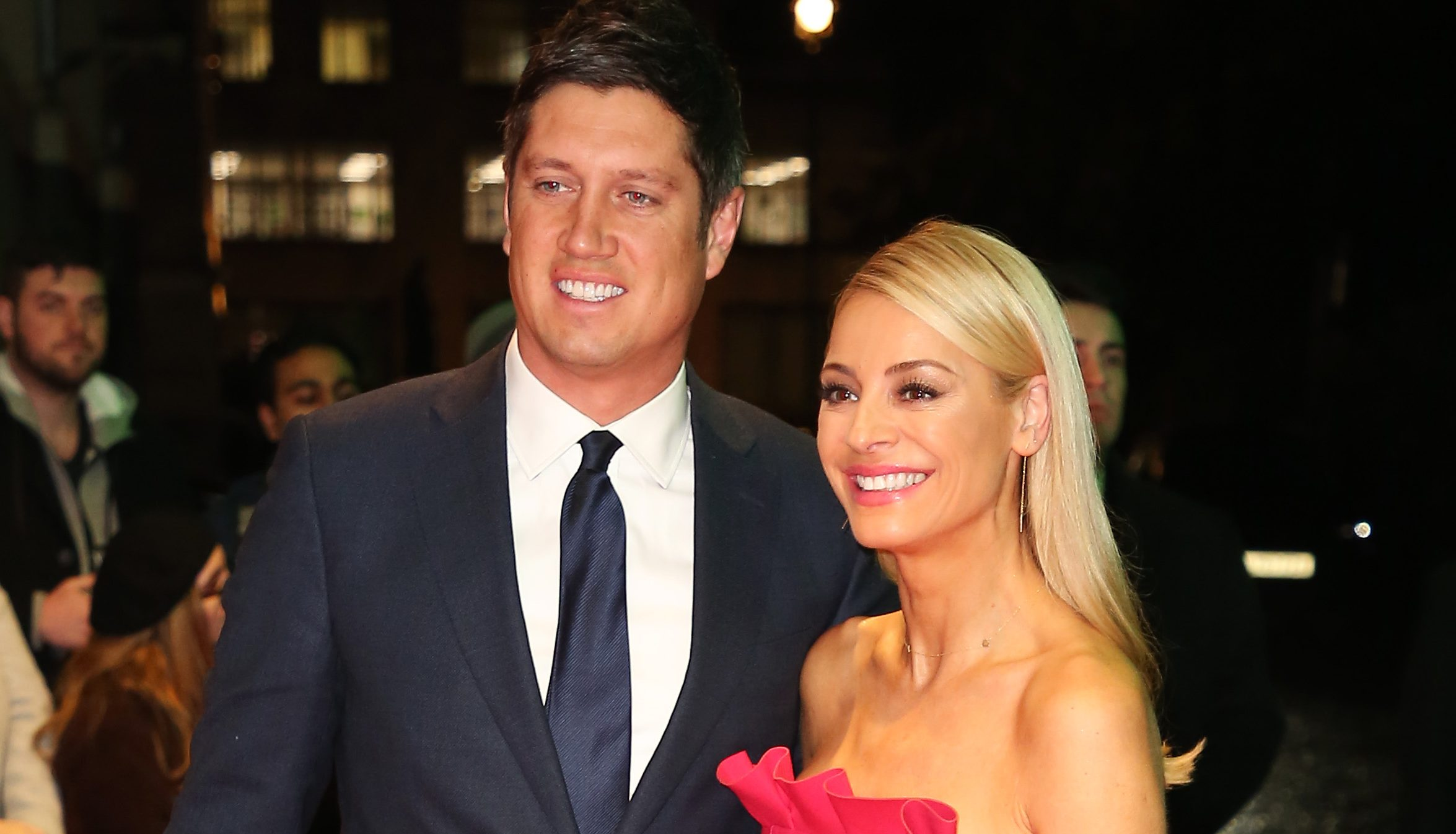 Vernon Kay is provoked by fan who asks if he and Strictly host Tess Daly are 'living separate lives'