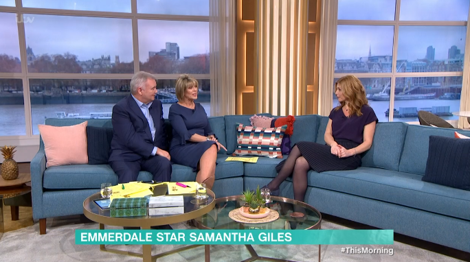 Sam Giles Emmerdale This Morning Credit: ITV