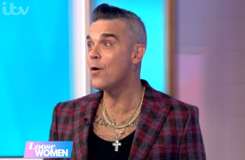 Robbie Williams gatecrashes Loose Women in hilarious blunder live on air