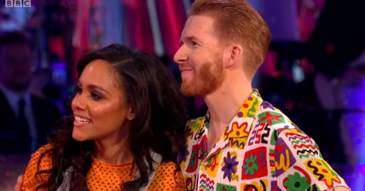 Alex Scott and Neil Jones on Strictly