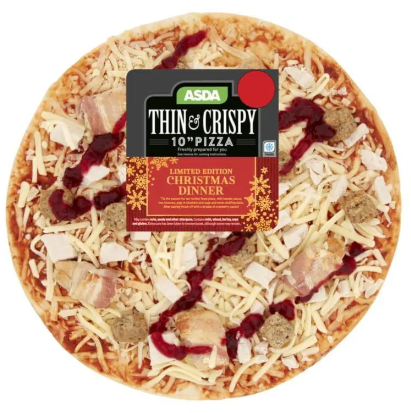 Asda Selling Christmas Dinner Pizza Featuring Pigs In