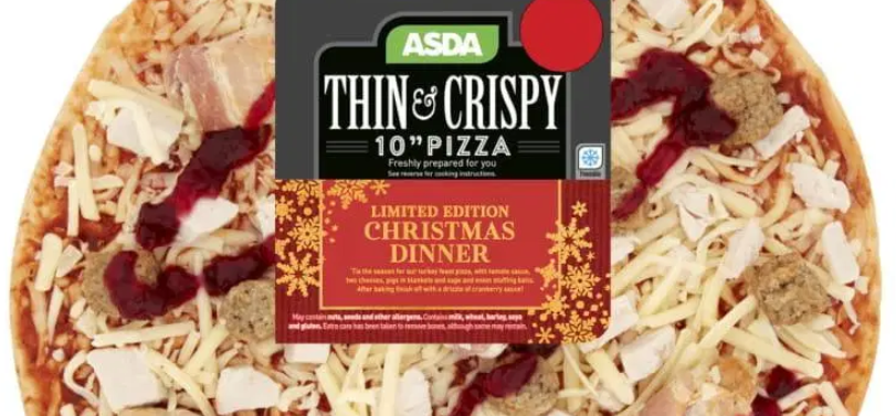 Asda Selling Christmas Dinner Pizza Featuring Pigs In Blankets