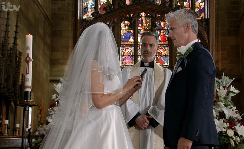 Coronation Street viewers cheer on Michelle Connor as she outs Robert Preston as a cheat at their wedding