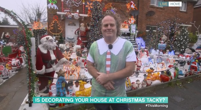 This Morning viewers have very mixed views on guest's 'tacky' Christmas house decorations