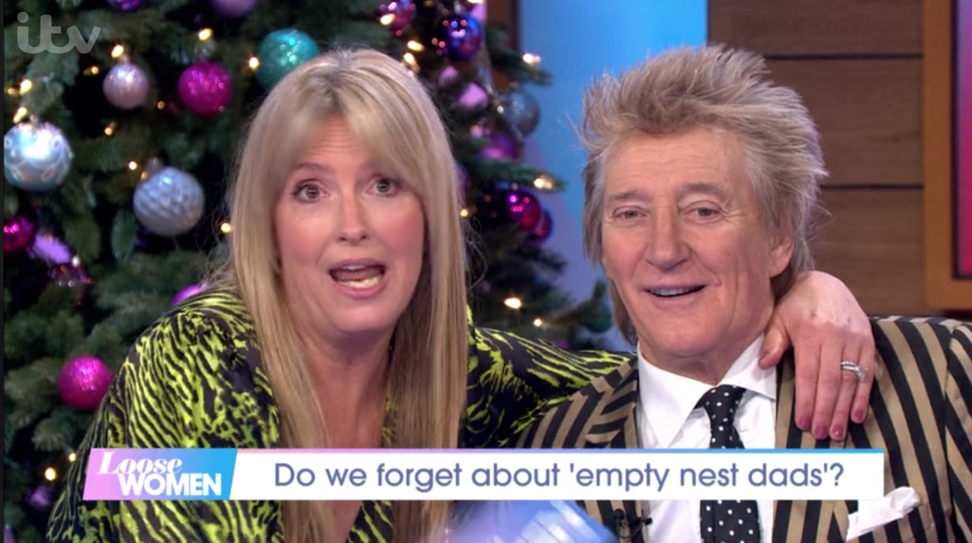 Penny Lancaster gets husband Rod Stewart's age wrong and confuses him with her DAD on Loose Women