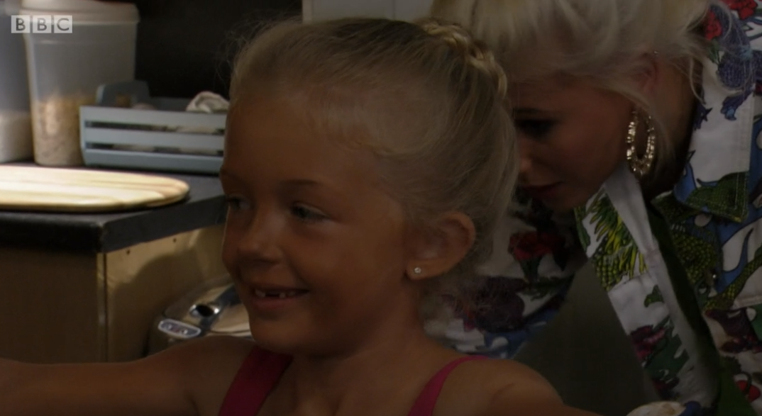 EastEnders viewers angry as Lola Pearce puts fake tan on her seven-year-old daughter Lexi