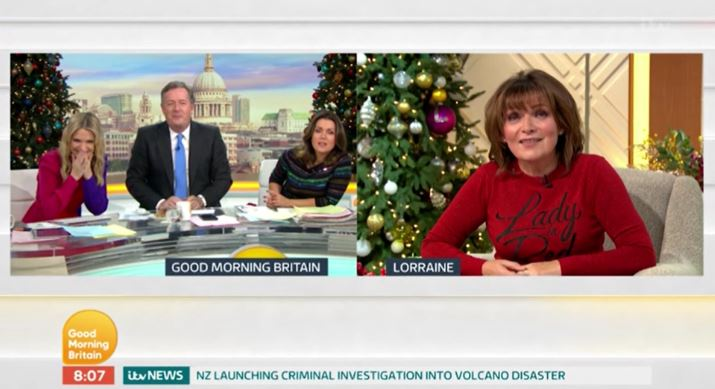 Piers Morgan and Lorraine Kelly