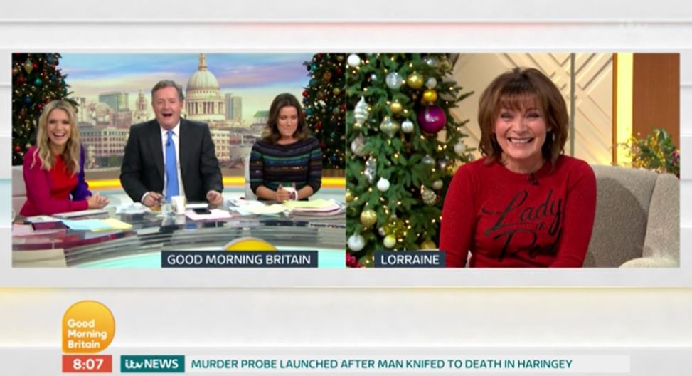 Piers Morgan LAUGHS as Lorraine Kelly mocks his weight with 'fat' jibe