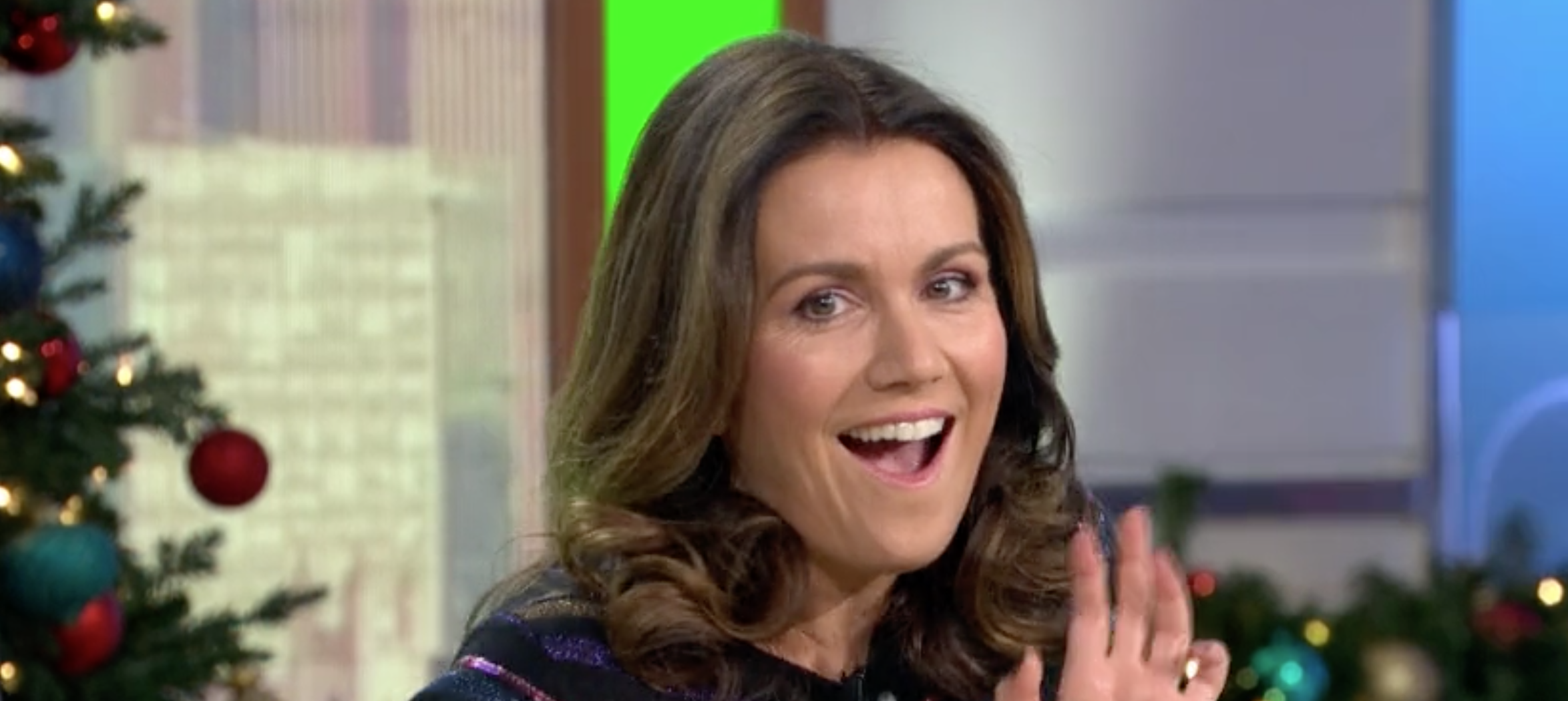 Susanna Reid is given a button to 'mute' Piers Morgan for her birthday