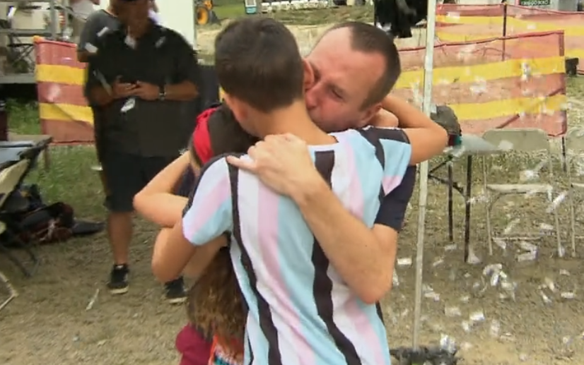 I'm A Celeb Coming Out viewers in bits seeing Andy Whyment cry as he reunites with his kids