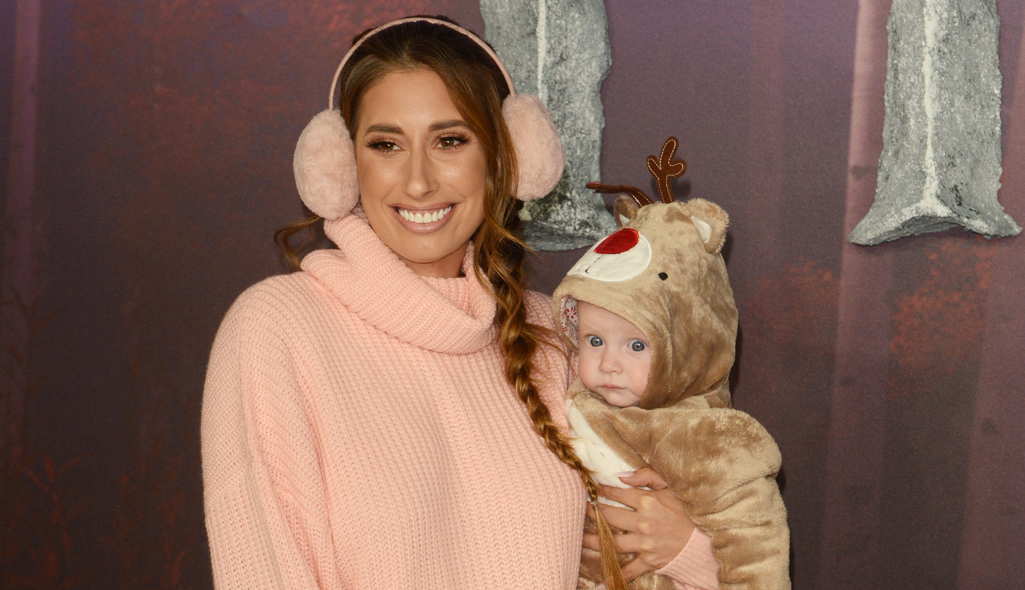 Stacey Solomon and Joe Swash celebrate their first Christmas with baby Rex