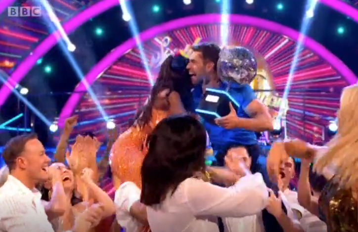Strictly Come Dancing fans divided as actor Kelvin Fletcher lifts the Glitterball trophy