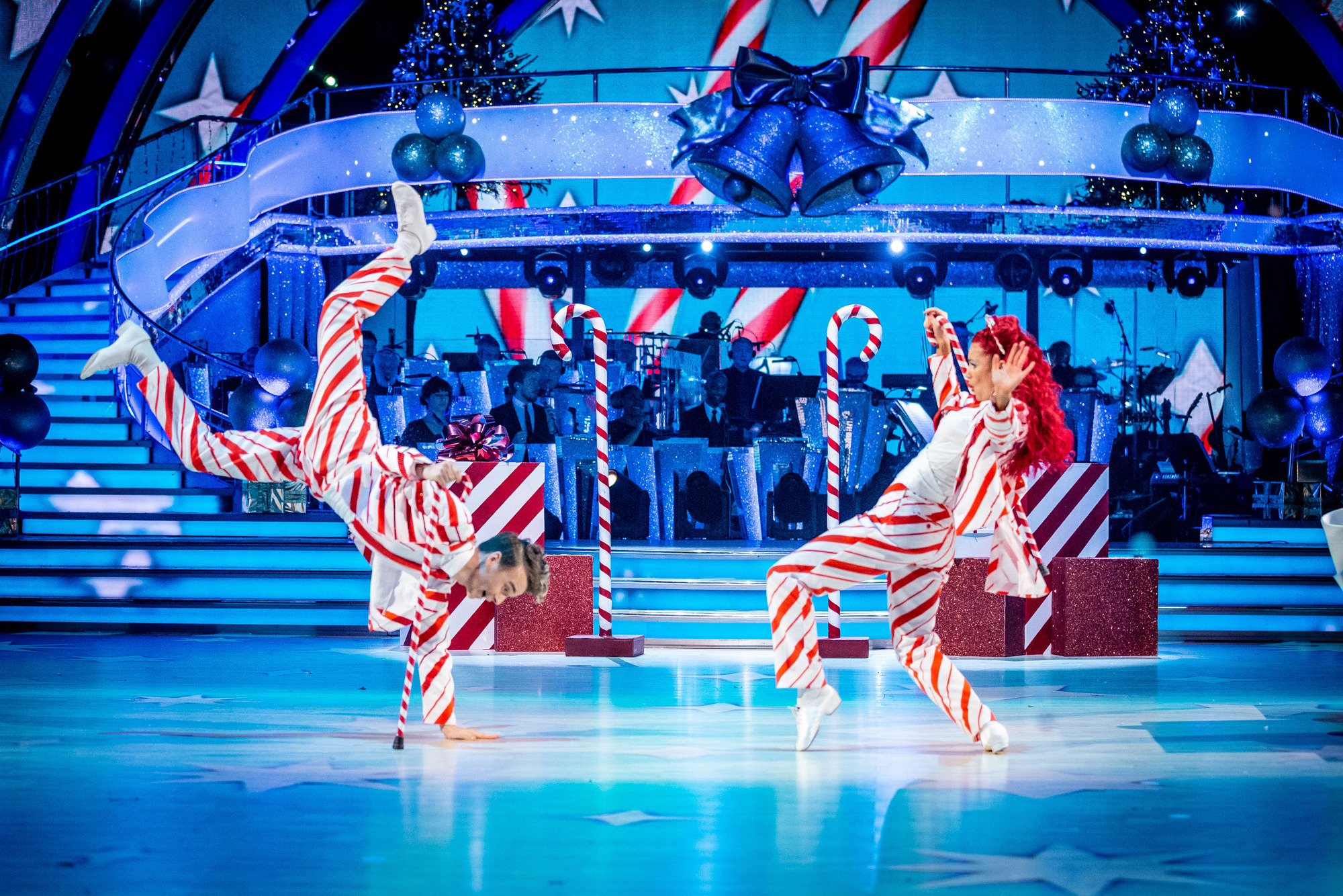 Joe Sugg and Dianne Buswell taking part in the Strictly Christmas Special 2019 (Credit: BBC One)