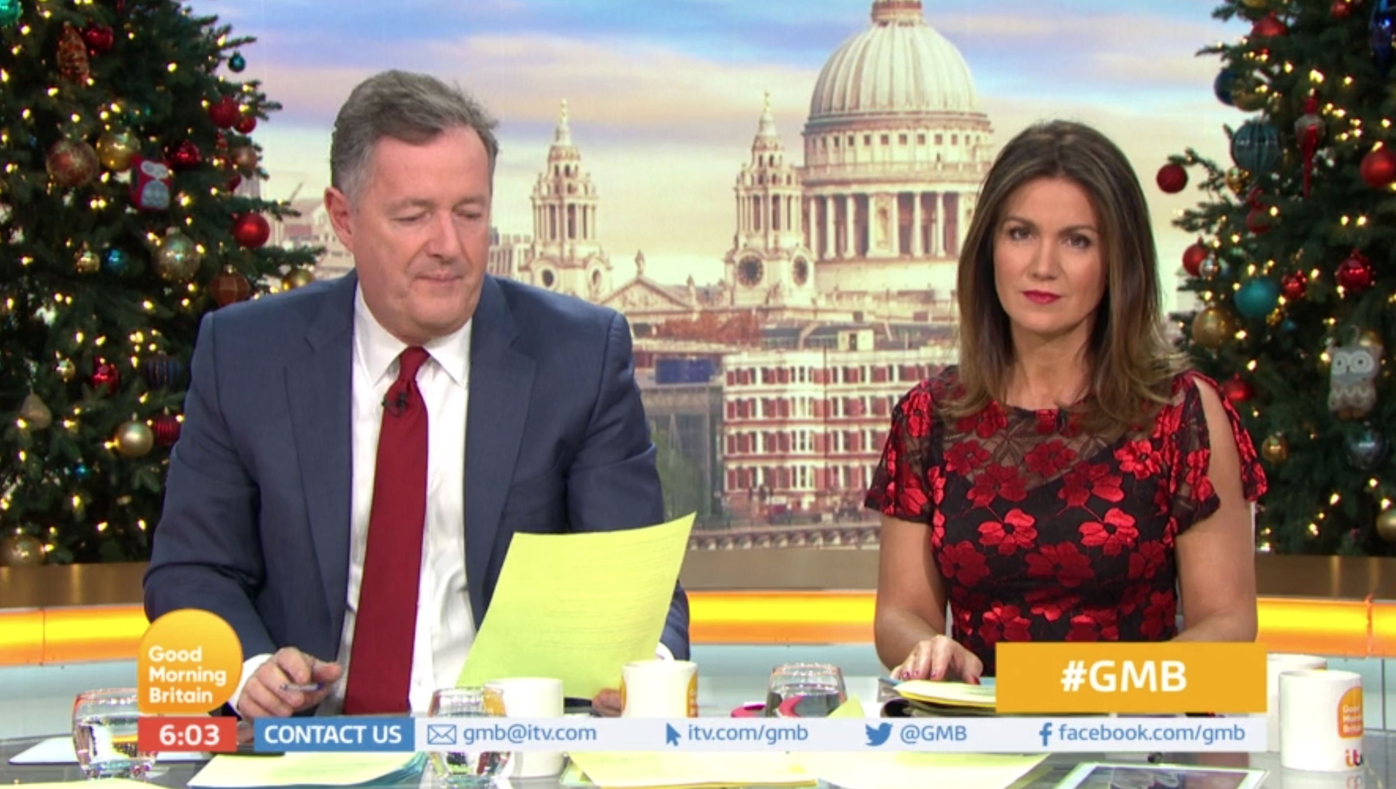 Piers Morgan rages over poll suggesting Father Christmas should be gender neutral or female