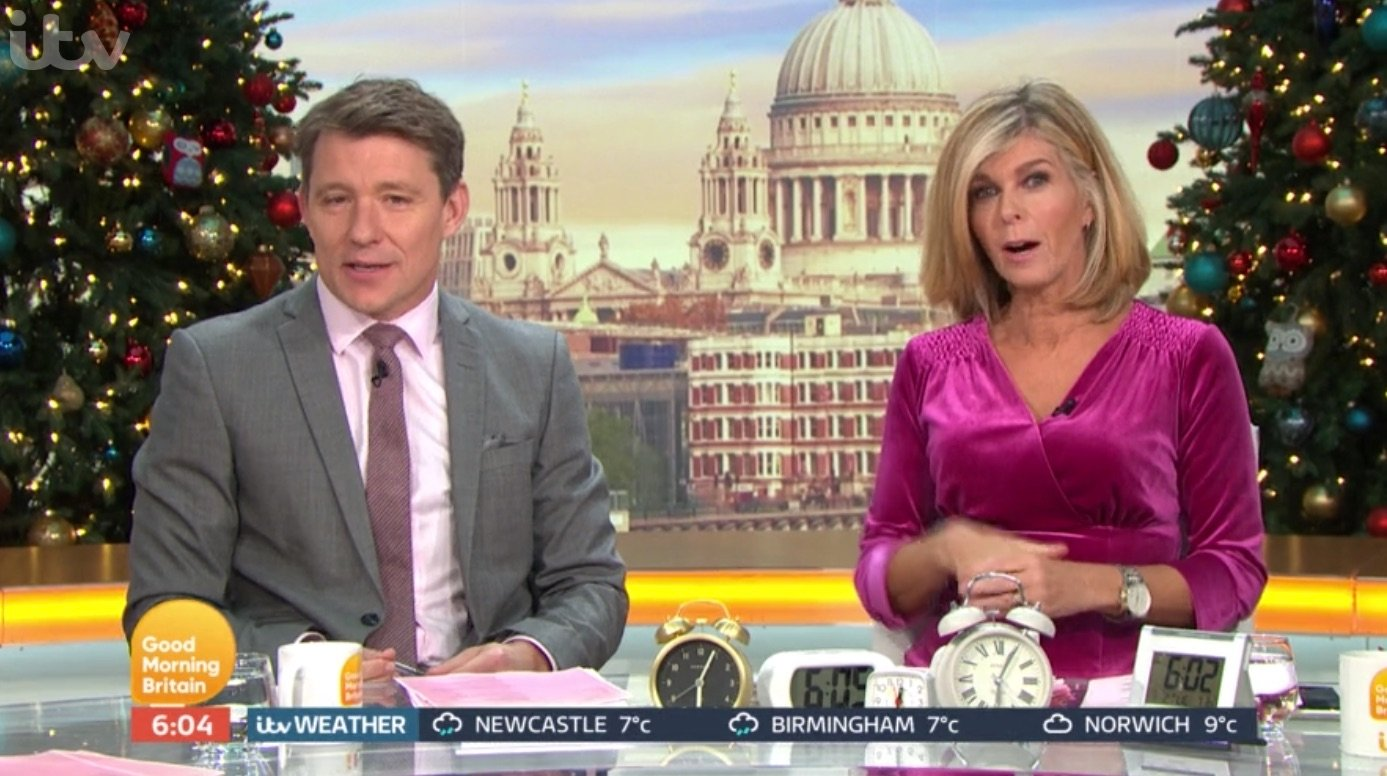 Kate Garraway accidentally shows husband Derek NAKED live on GMB after overlseeping and missing show