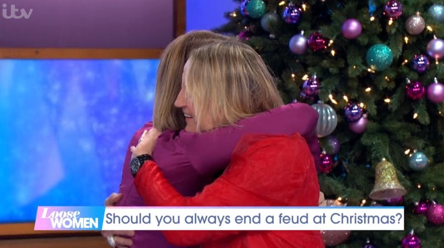 Loose Women stars Carol McGiffin and Kaye Adams end their 'feud' live on air