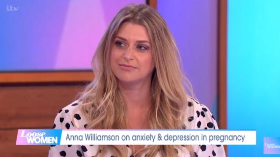 Anna Williamson on Loose Women (Credit: ITV)