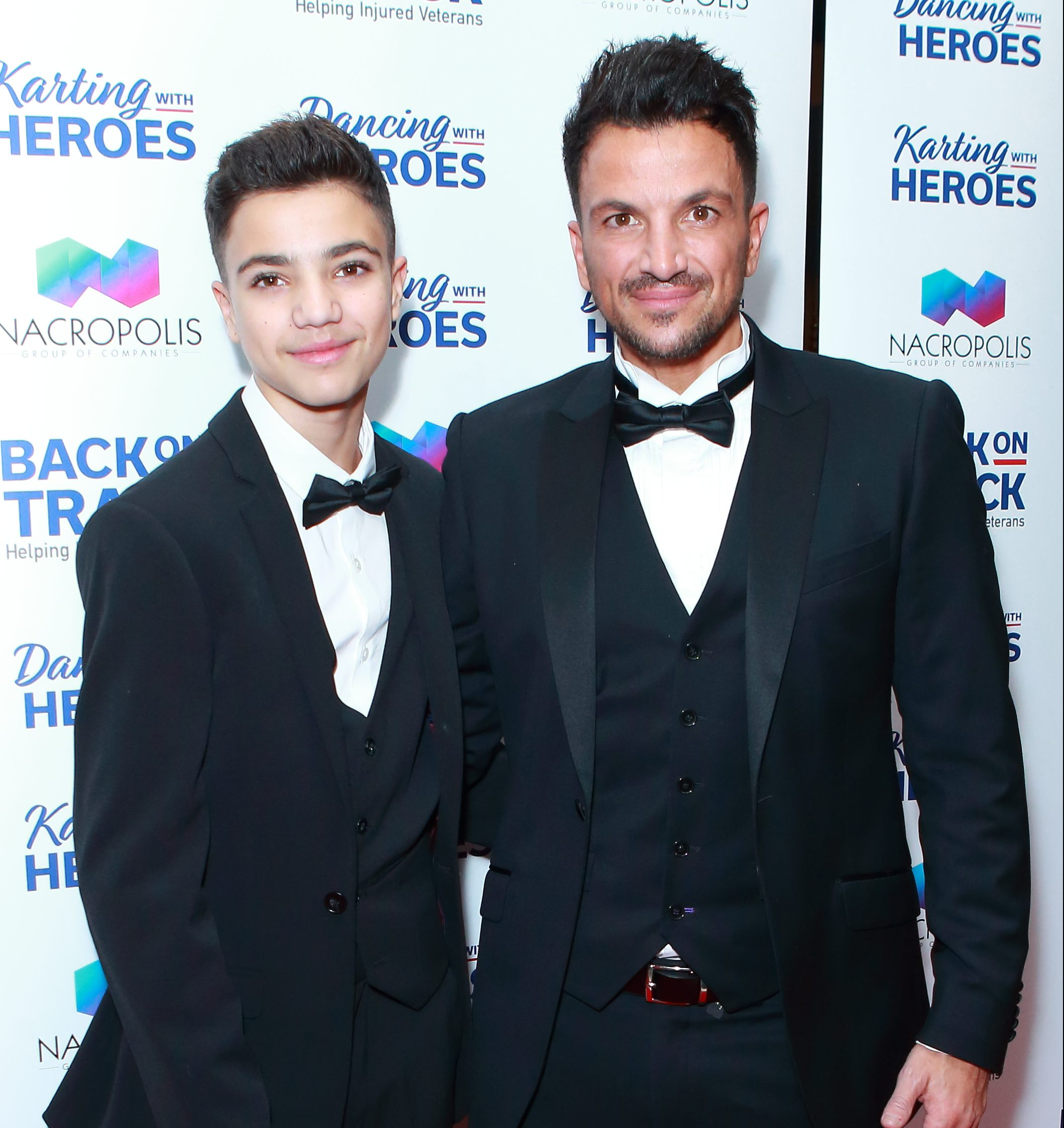 Junior Andre and Peter Andre