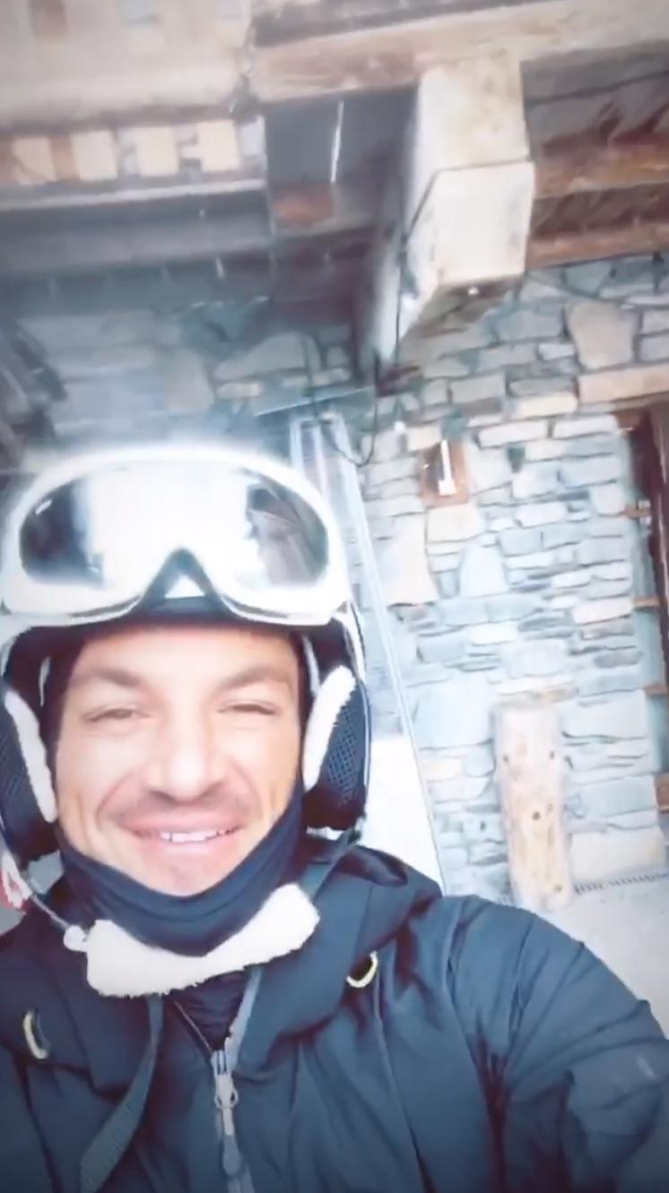 Peter Andre Ski trip