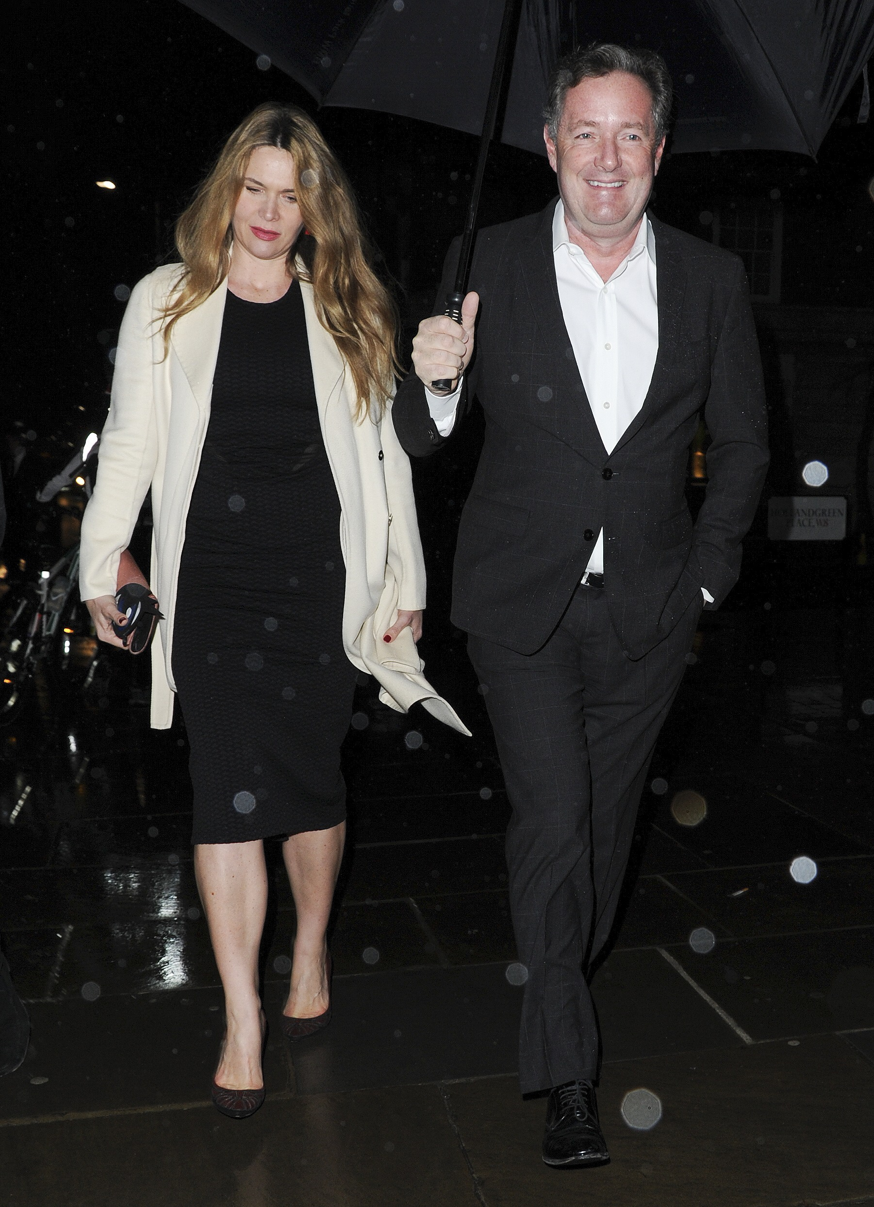 Celebrities seen arriving at the Range Rover Velar Global Reveal at The Design Museum in London, UK. WORLDWIDE RIGHTS Pictured: Celia Walden,Piers Morgan Ref: SPL4173369 020317 NON-EXCLUSIVE Picture by: MBPICS / FameFlynet.uk.com / SplashNews.com Splash News and Pictures Los Angeles: 310-821-2666 New York: 212-619-2666 London: +44 (0)20 7644 7656 Berlin: +49 175 3764 166 photodesk@splashnews.com World Rights