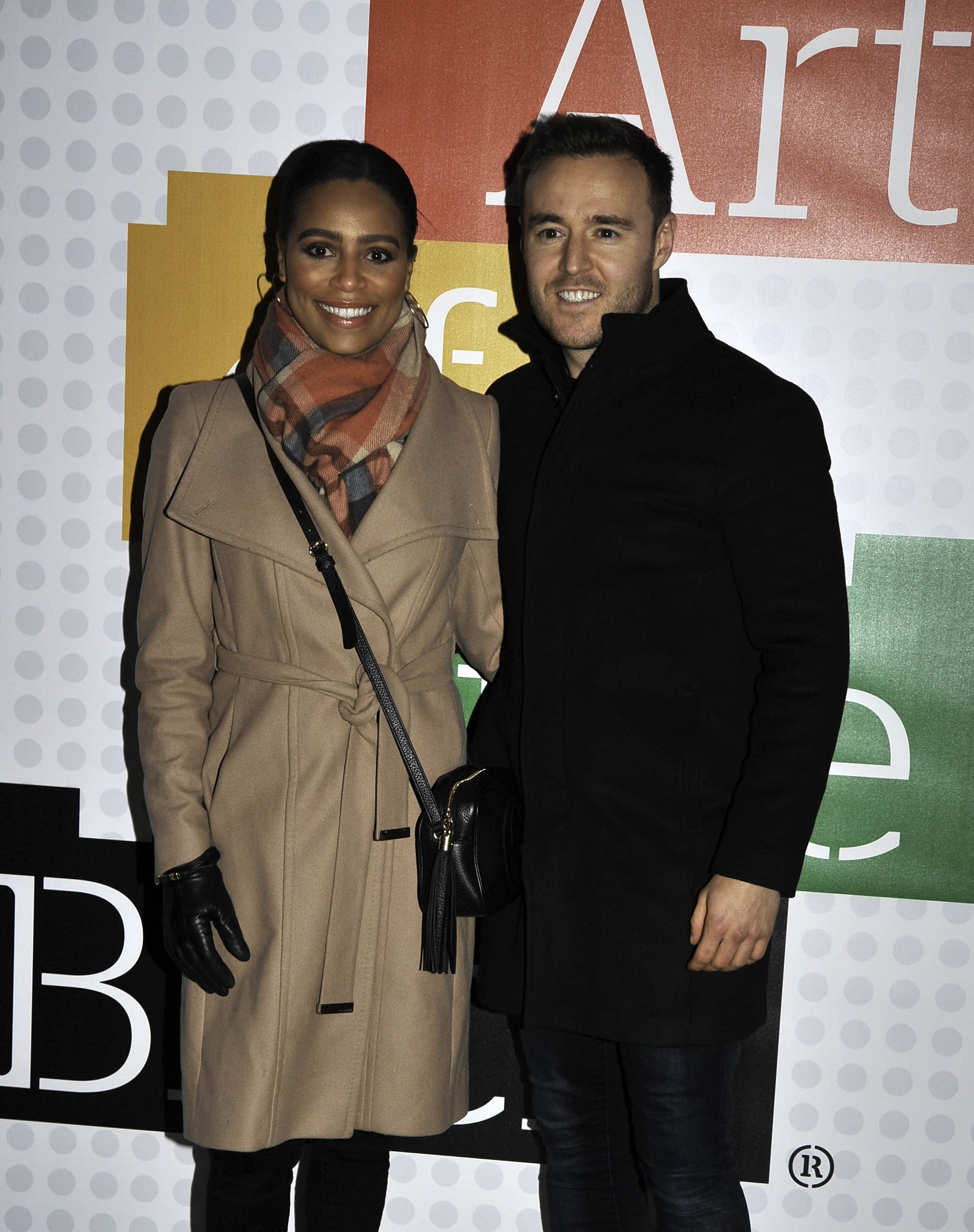 People arrive at The art of Brick exhibition in Manchester City Centre. Pictured: Tisha Merry,Alan Halsall Ref: SPL5131084 221119 NON-EXCLUSIVE Picture by: SplashNews.com Splash News and Pictures Los Angeles: 310-821-2666 New York: 212-619-2666 London: +44 (0)20 7644 7656 Berlin: +49 175 3764 166 photodesk@splashnews.com World Rights
