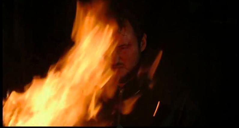 Martin burning Keanu's things