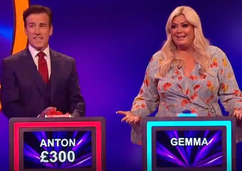Anton du Beke and Gemma Collins on Catchphrase