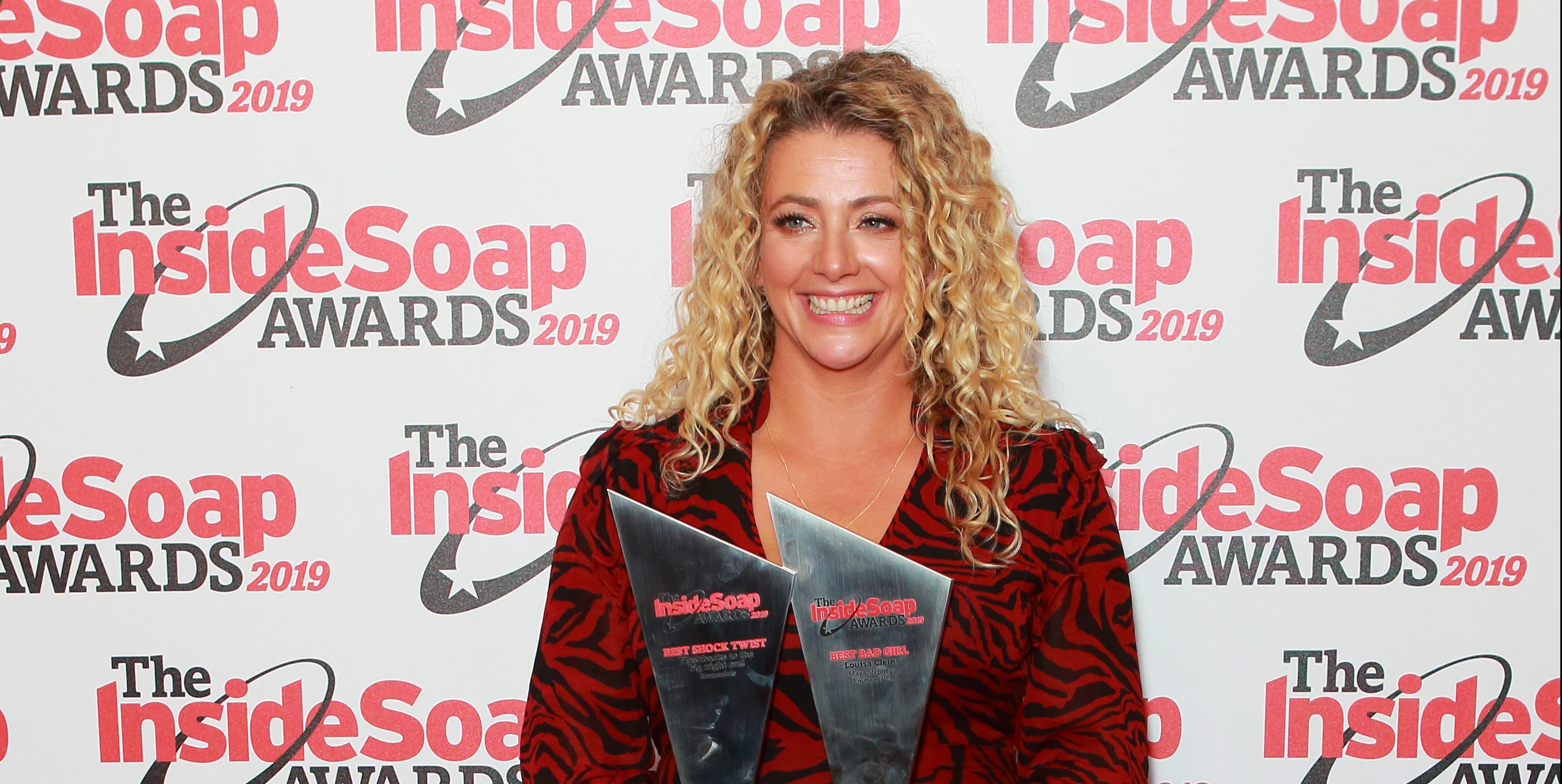 Former Emmerdale star Louisa Clein shares throwback picture showing what happens when she brushes curly hair