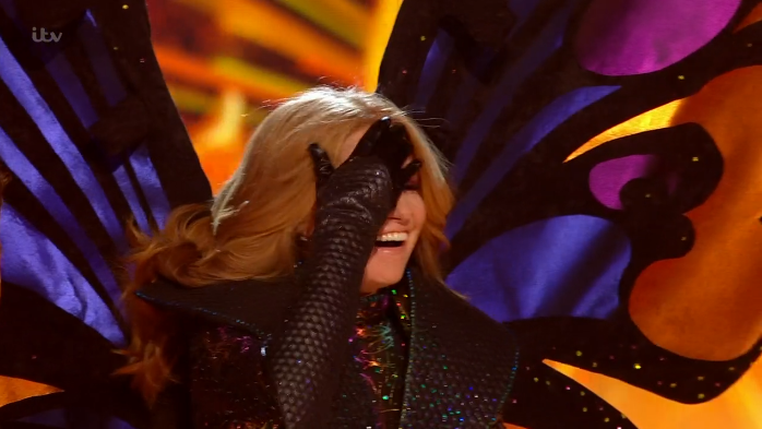 The Masked Singer: Patsy Palmer is revealed as the first celebrity is voted off