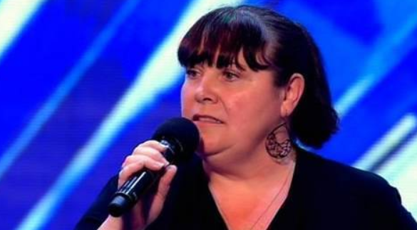 Mary Bryne on The X Factor in 2010