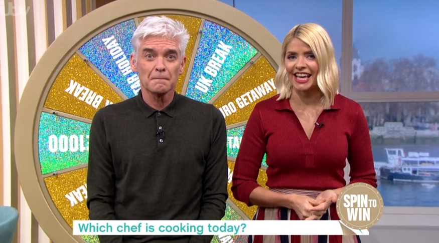 Holly Willoughby makes unintentional sexual innuendo during 'shambles' segment on This Morning