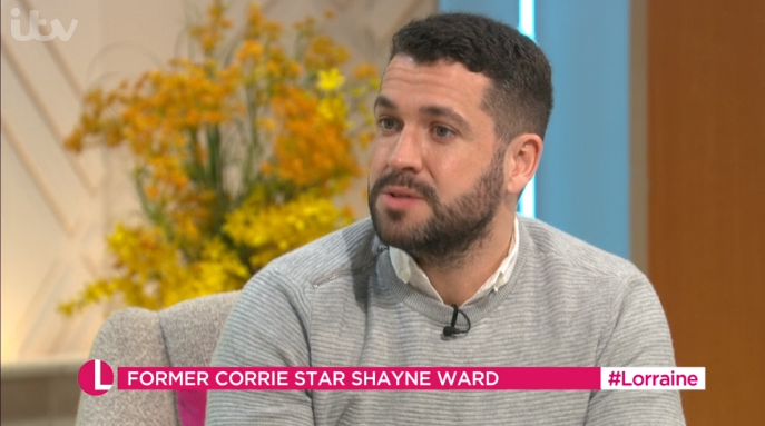 Shayne Ward reveals he gets messages from men about his Coronation Street suicide story