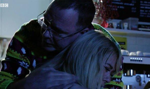 Ian Sharon hug