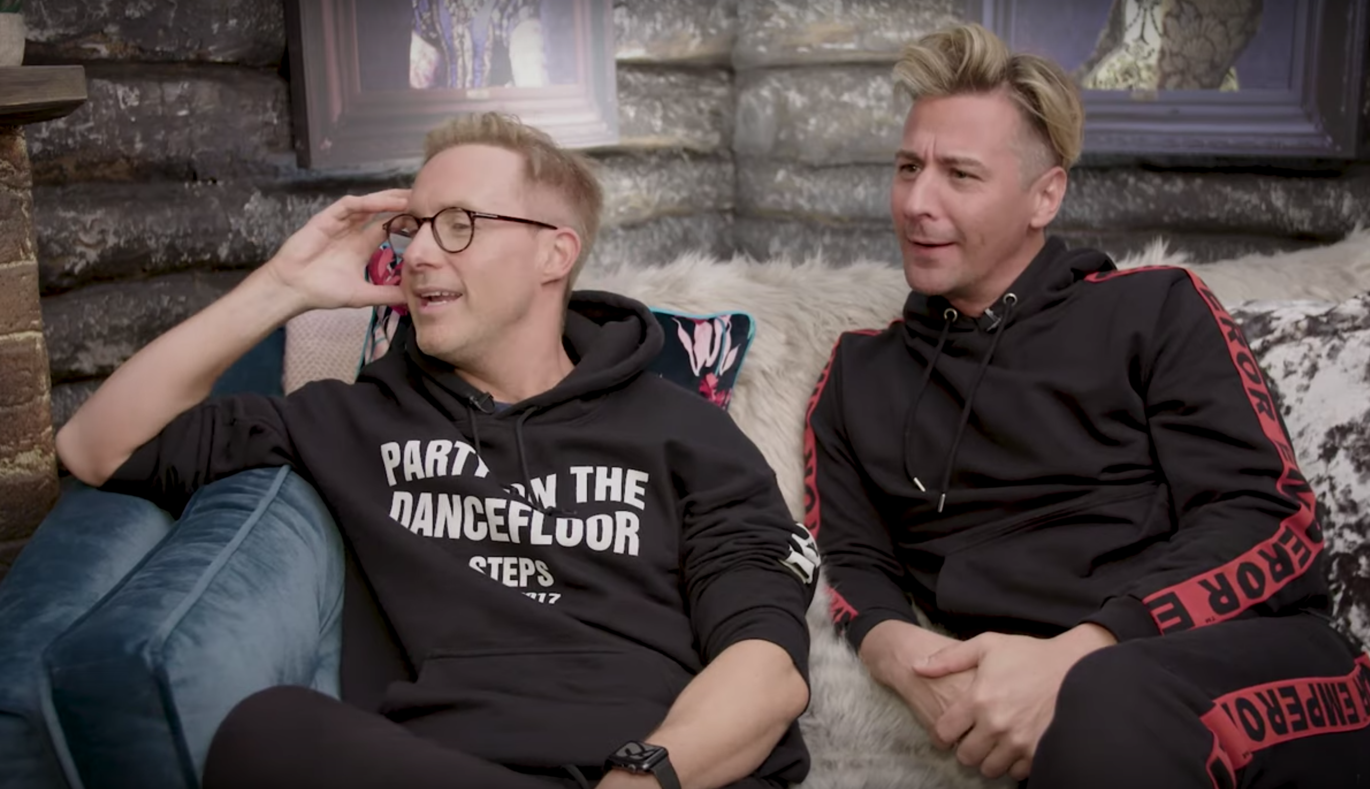 Dancing On Ice stars Ian 'H' Watkins and Matt Evers want to perform 'steamier' routines