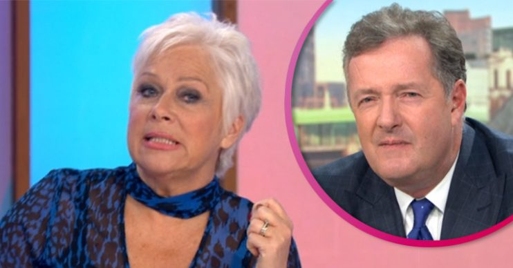 Denise Welch and Piers Morgan on GMB