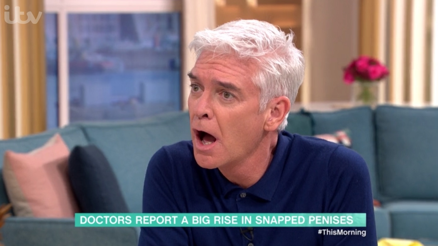 This Morning's Phillip Schofield stunned by SNAPPED PENIS injuries reveal