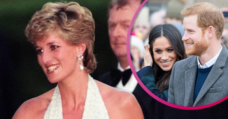 Princess Diana and HArry and Meghan