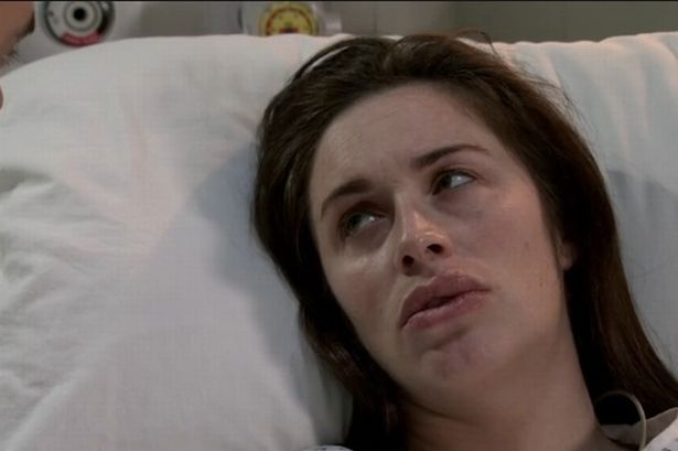 Julia Goulding as Shona Ramsey Corrie lips