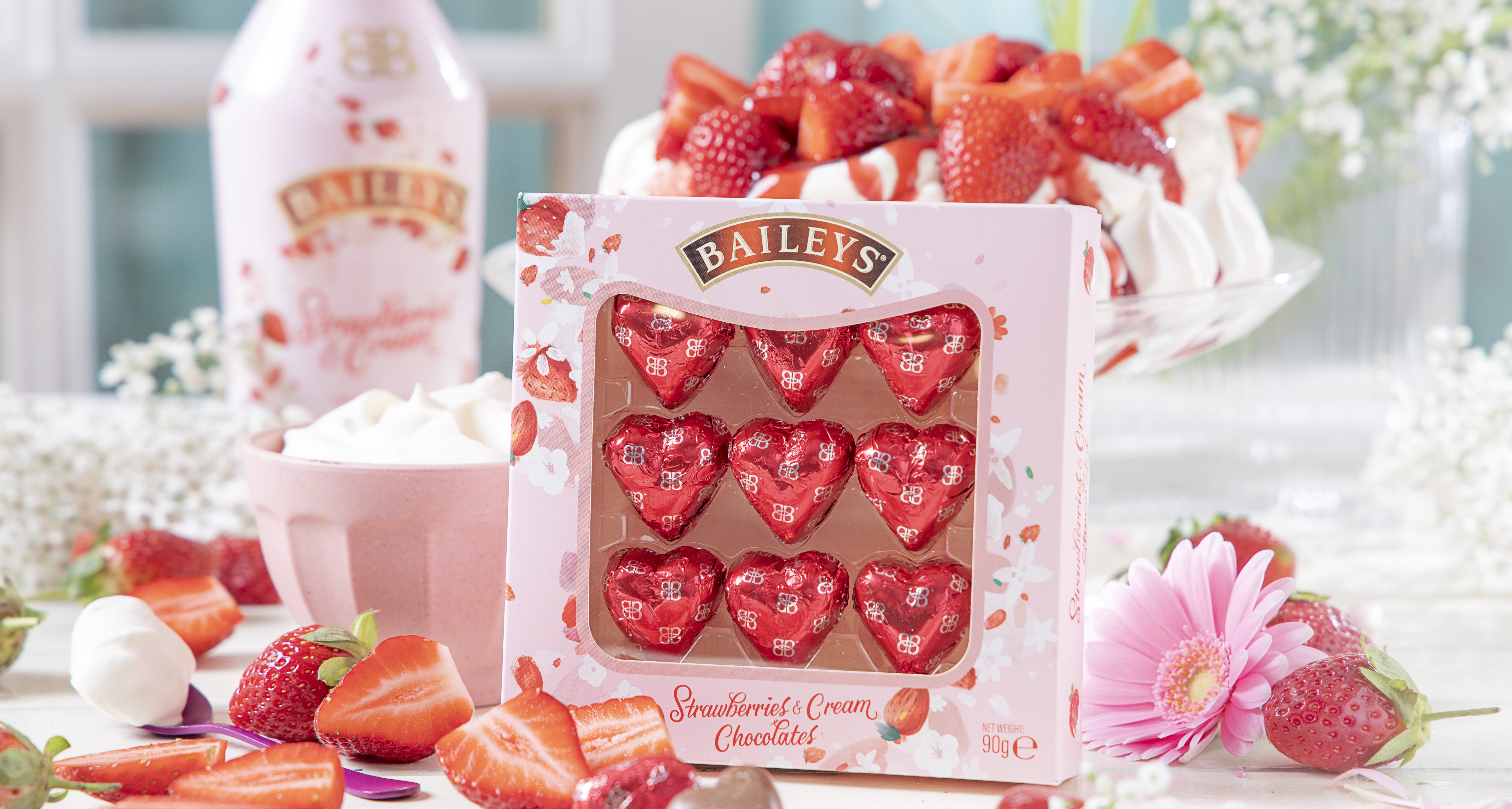 Baileys launches chocolate hearts filled with its Strawberries & Cream liqueur for Valentine's Day