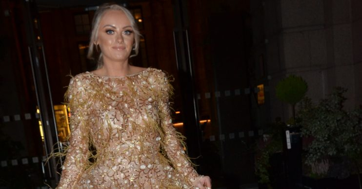 Katie Mcglynn Arriving At The Denise Welch Gem Appeal Ball Principle Hotel Manchester Katie stunned in a huge gown as she arrived with best friend Antony Pictured: Katie Mcglynn Ref: SPL5129723 171119 NON-EXCLUSIVE Picture by: The Cleavers / SplashNews.com Splash News and Pictures Los Angeles: 310-821-2666 New York: 212-619-2666 London: +44 (0)20 7644 7656 Berlin: +49 175 3764 166 photodesk@splashnews.com World Rights