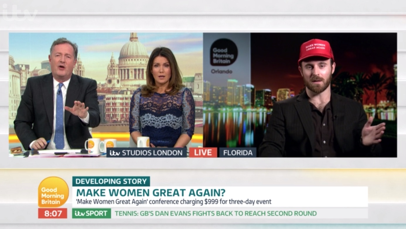 Piers Morgan clashes with 'anti-feminism' guest on Good Morning Britain