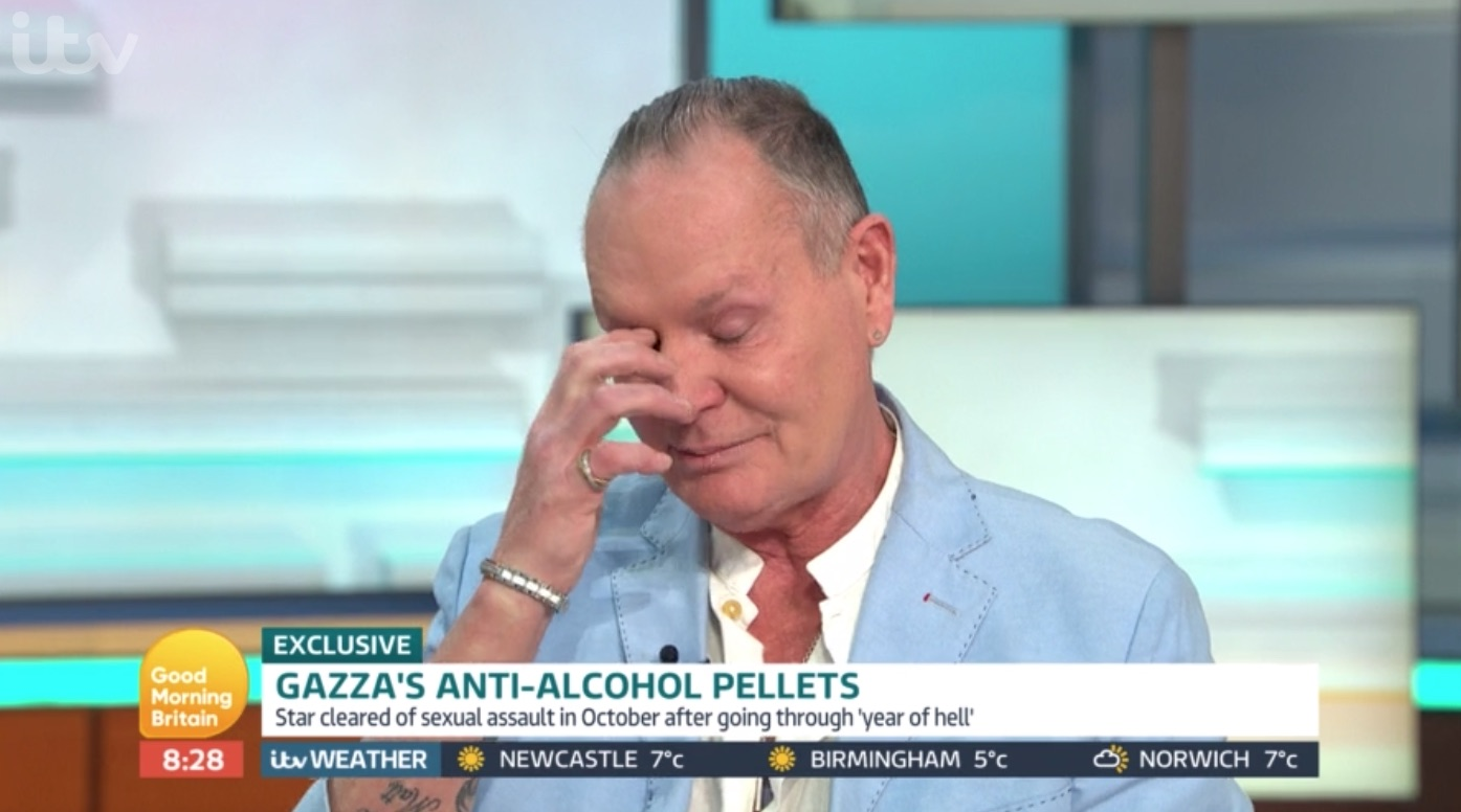 Paul Gascoigne breaks down in tears on Good Morning Britain as discusses anti-alcohol pellets in groin