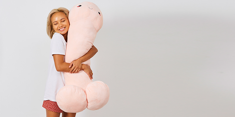 Giant penis cushion is available in two new colours just in time for Valentine's