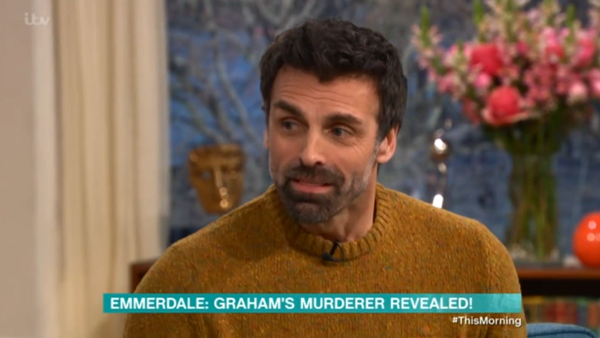 Emmerdale's Jonathan Wrather reveals Pierce 'might not be' Graham's killer in This Morning chat