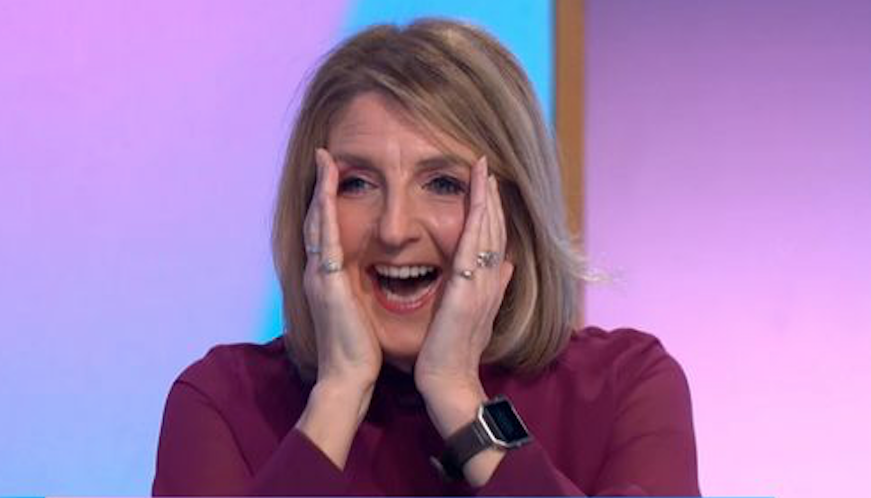 Kaye Adams SWEARS as Loose Women pals prank her as she thinks she's live on TV