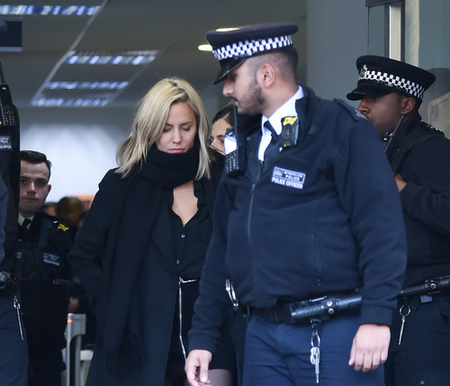 Caroline pictured leaving court
