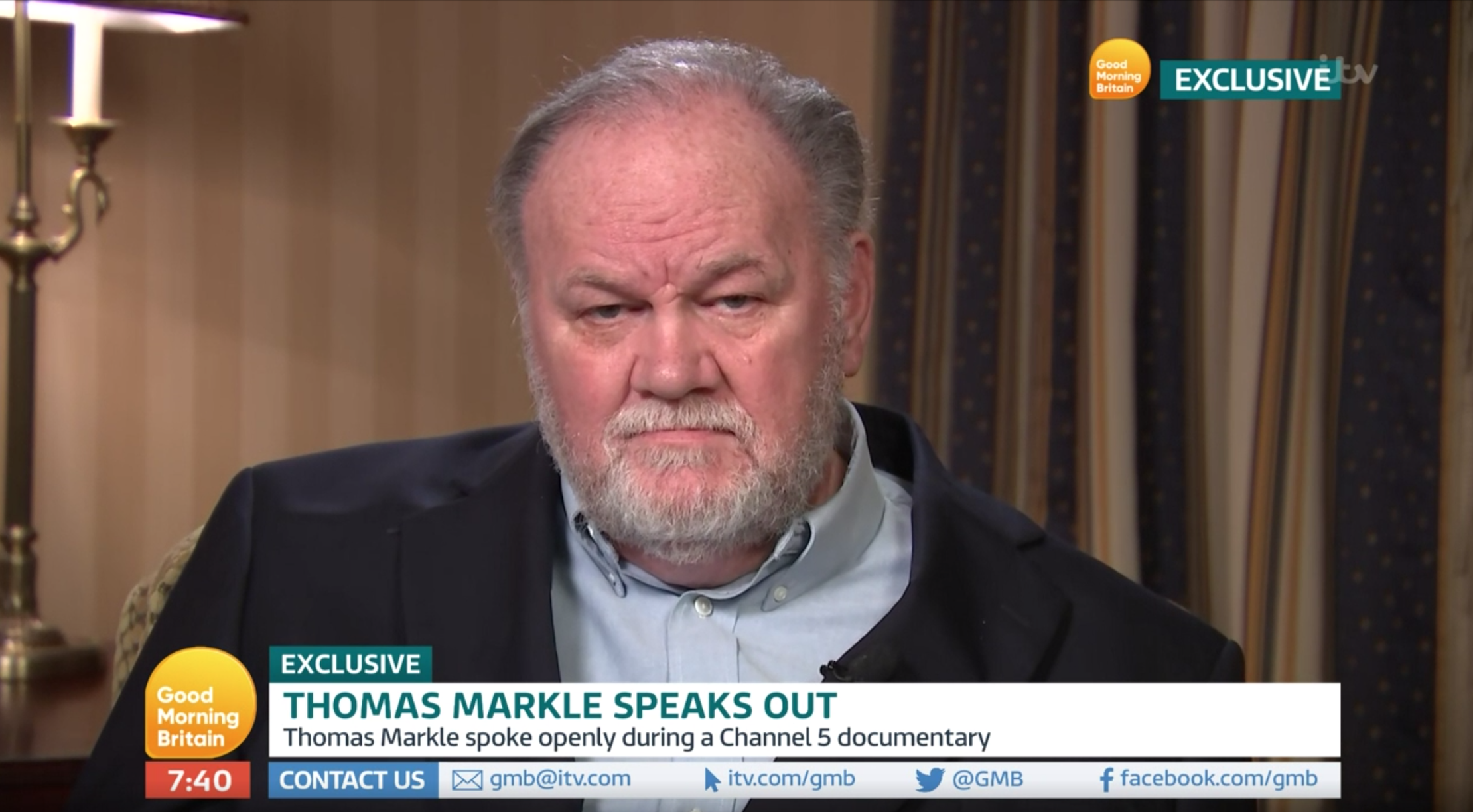 Thomas Markle urges Prince Harry to 'man up and see him' as he slams him and Meghan for 'hurting the Queen'