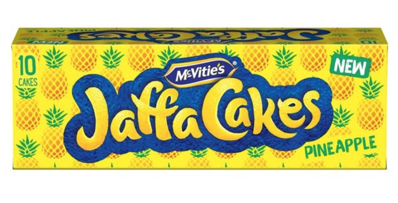 Morrisons is now selling pineapple-flavoured Jaffa Cakes