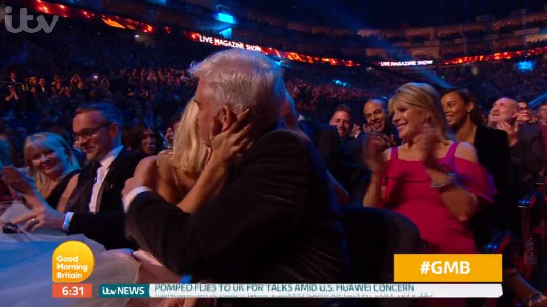 Holly Willoughy and Phillip Schofield at the NTAs